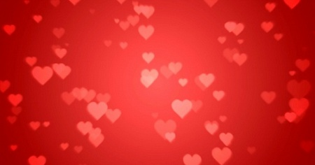 Floating Hearts - Free Background Video